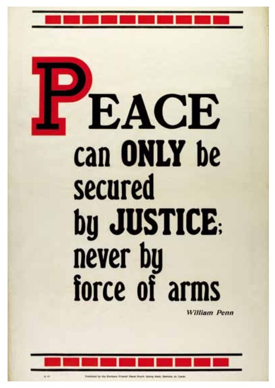 Peace can only be secured by justice...